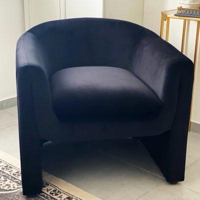 כורסא מודרנית בצבע שחור - IDOL