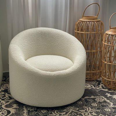 כורסא עגולה מסתובבת בצבע לבן - COTTO