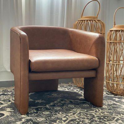 כורסא מודרנית דמוית עור  - SOLEI